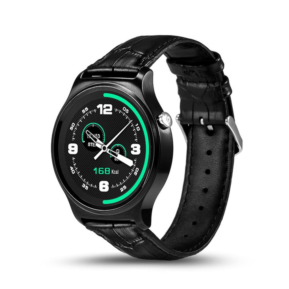 imágenes para GW01 Pulsómetro Bluetooth Reloj Inteligente 4.0 SmartWatch Para Android iOS 4.3 7 IPS Pantalla Redonda Resistente Al Agua la Vida