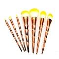 7pcs/set  Makeup Brush Set Eye Shadows Eyeliner Powder Brush Tools Makeup Brushes Thread Rainbow Blending Powder Contour Brush.