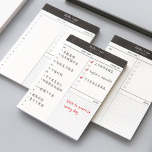 Small Paper Memo Pad Daily Planner Office Desk Check List Notepad To Do List Schooll Office Stationery zakka miditerranean sea wooden desk calendar desktop to do list daily planner book office desk supplies standing school