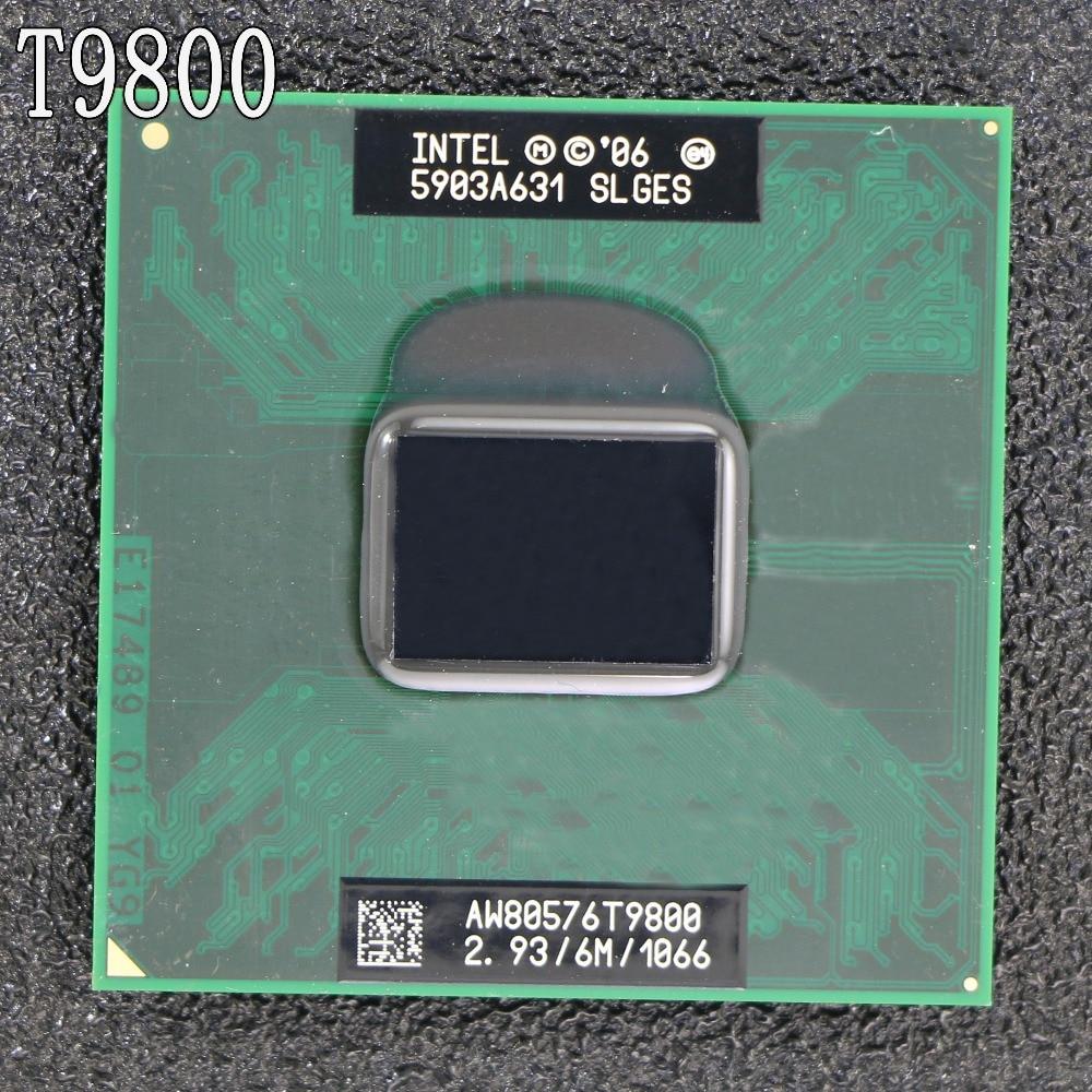 Free Shipping intel CPU laptop Core 2 Duo T9800 CPU 6M Cache/2.93GHz/1066/Dual-Core Socket 479Laptop processor forGM45 PM45
