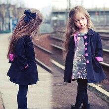Oneasy 2016 Куртка для Девочек Зимние Куртки Вниз Пальто и Куртки Девушки Одежда женская Зимняя Куртка Ребенок Мыс/девушки Плащ