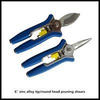 6 inch Plant trim horticulture Hand pruner cut secateur Shrub Garden Scissor tool anvil Branch Shear Orchard pruning
