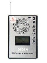 DEGEN DE17 FM стерео МВт SW радио DSP Мир группа приемника ats Будильник Радио телескопическая антенна lock /сбросить A0904A