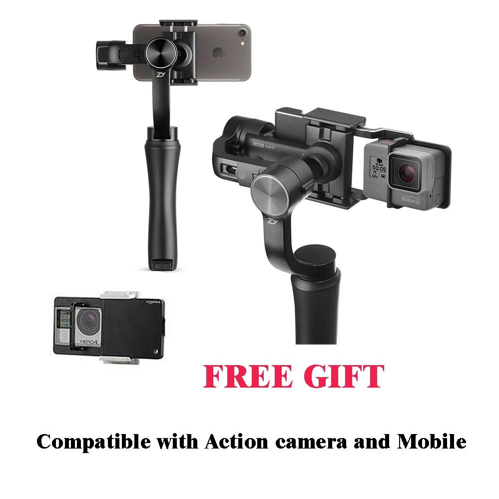 bilder für ZHIYUN GLATT Q Handheld 3 Achsen gimbal stabilizer action kamera selfie 3 achsen halterung steadicam für iphone Sumsung Gopro YI