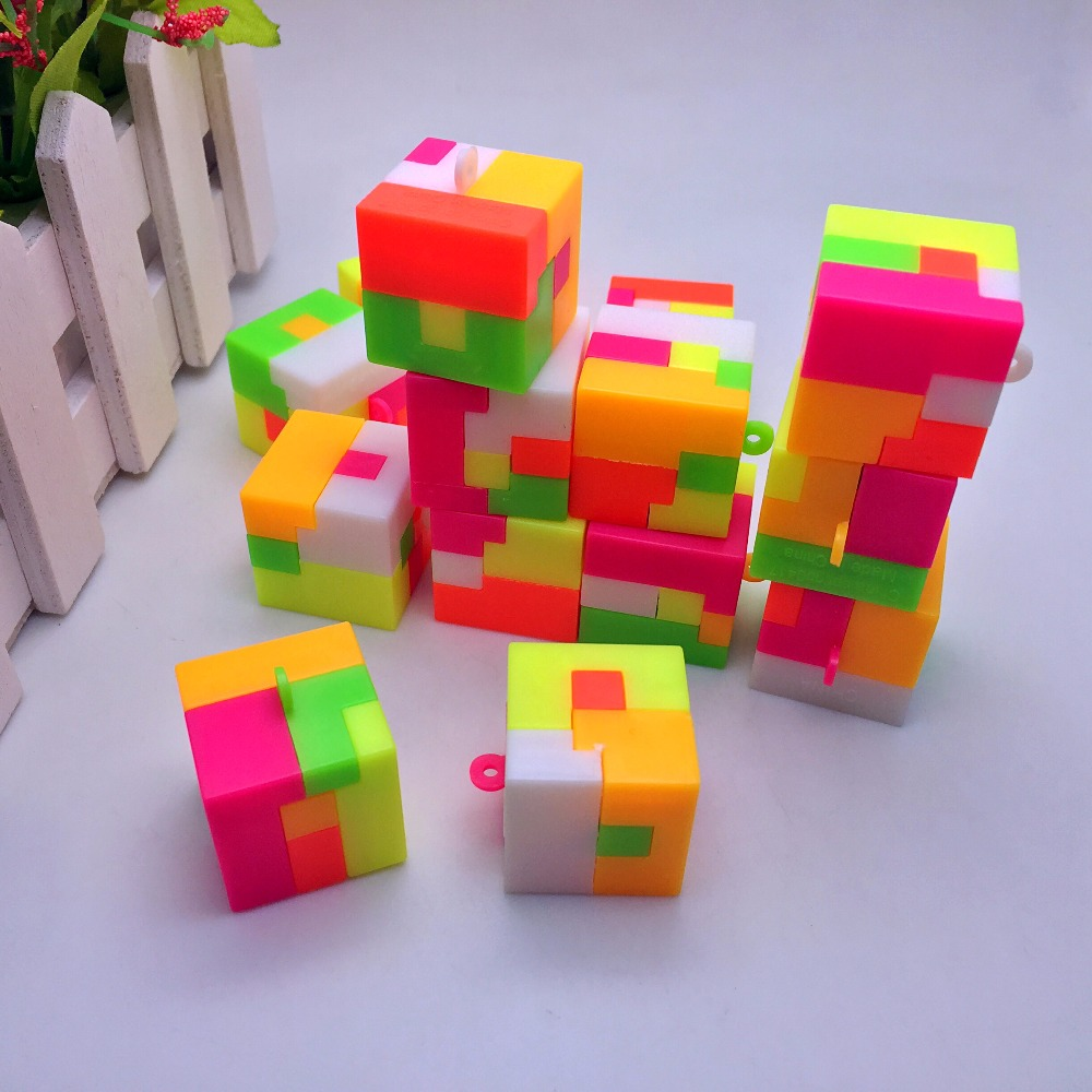 20pcs/Lot hot sales Assemble Plastic square toys game Intellectual Ball Learning Education Toys for kids