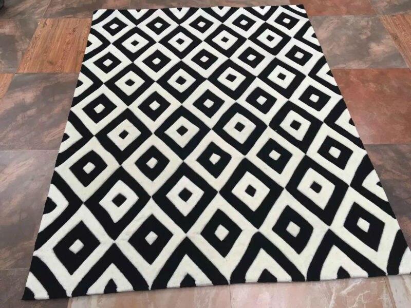 tapis speciaux de salon grand tapis acrylique moderne noir et blanc en moquette nouvelle offre 2016