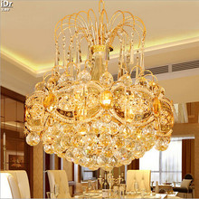 Round LED crystal lighting dining room  bedroom living room study hall Chandeliers Lmy-012
