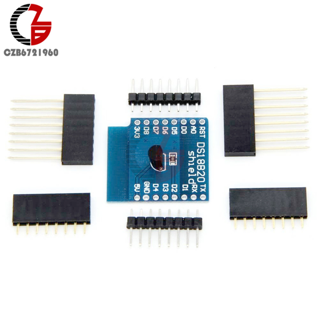 US $0 95 10% OFF|DS18B20 Temperature Sensor Shield Wifi Extension Board for  Arduino Wemos D1 Mini D1 Mini Pro ESP NodeMCU-in Temperature Instruments
