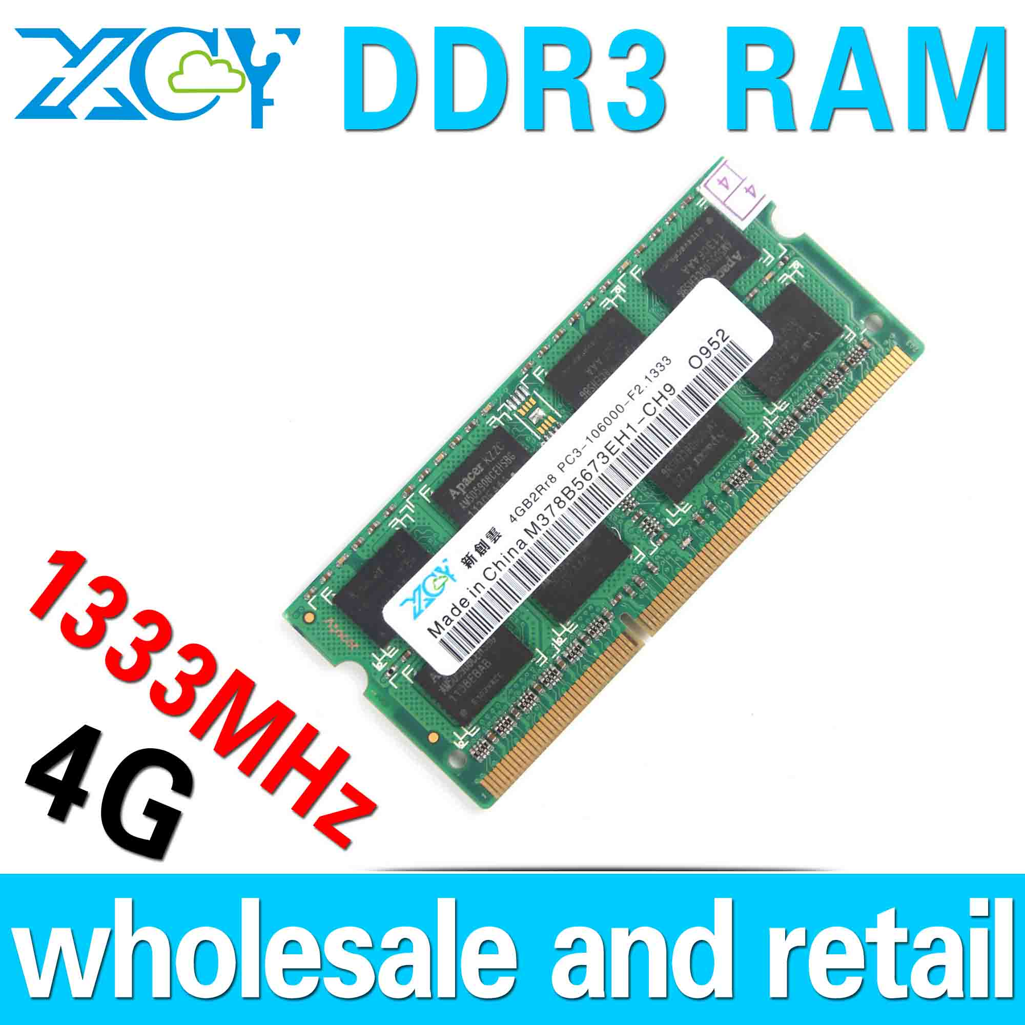 Wholesale Notebook Memory DDR3 4GB RAM Laptop Ddr3 Ram DDR3 1333MHZ SODIMM COMPUTER RAM