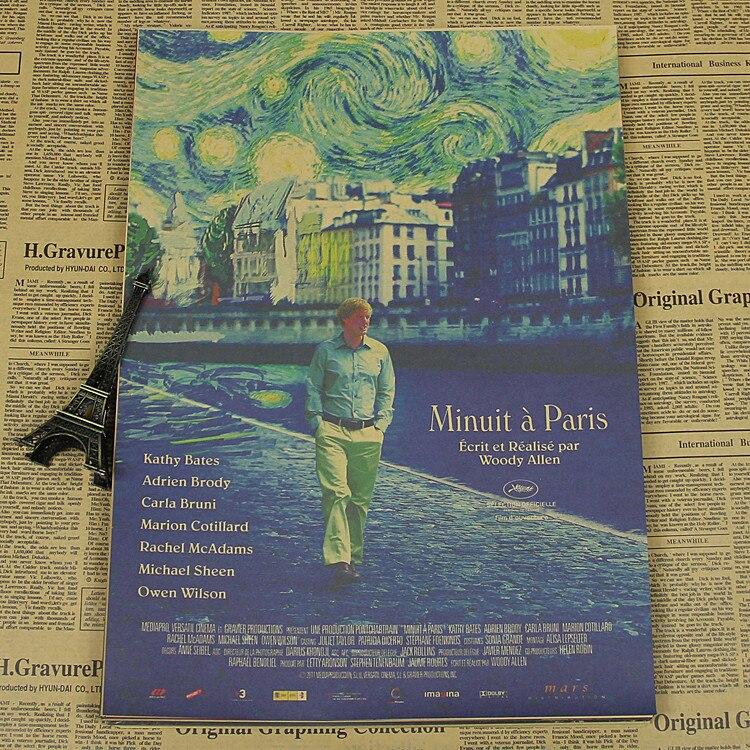 Wall Decor Home Decor Rhinoceros Beetle Midnight In Paris Woody Allen Movie Poster Retro Craft Paper Film Classic Vintage