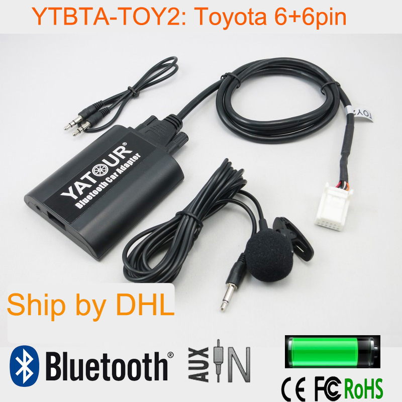 Yatour Bluetooth Car Adapter with microphone hands free for