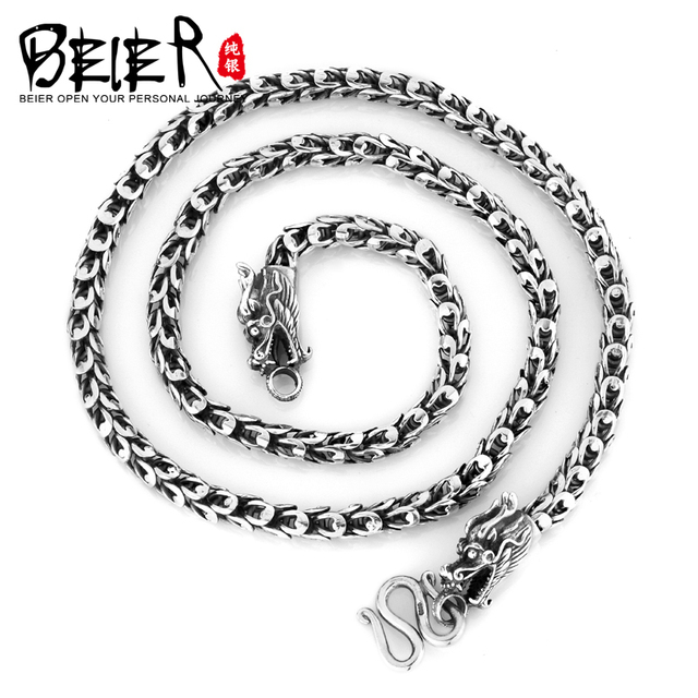Super Quality 925S Sterling Silver Men's Match Necklace Chain For Man Woman Personality Vintage Jewelry BR925XL018