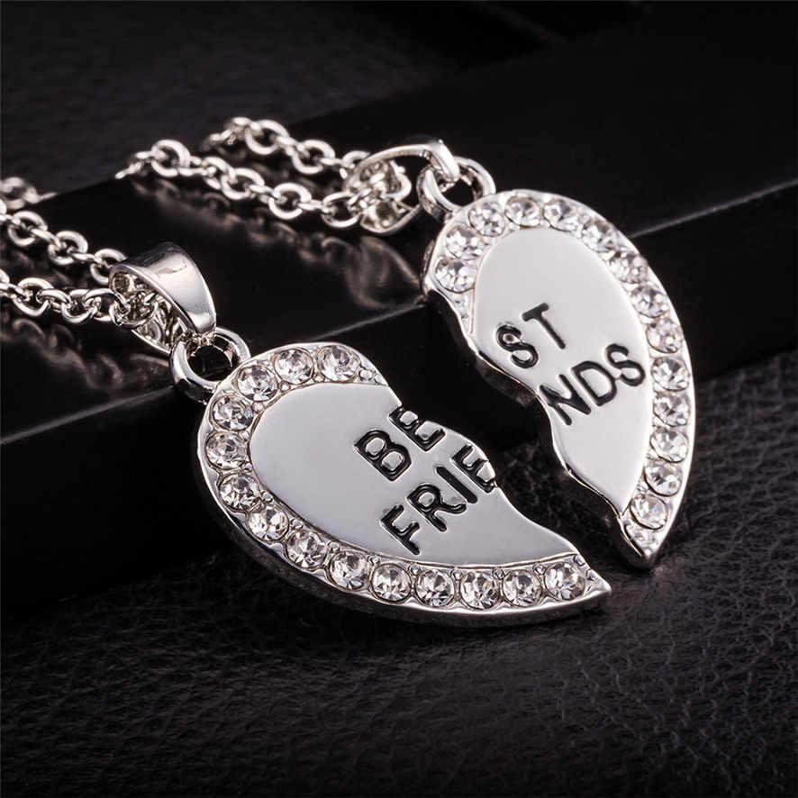 Gorąca B rand najlepszy przyjaciel Unisex mężczyzna kobiet serce wisiorek naszyjnik biżuteria łańcucha 162510 ##418
