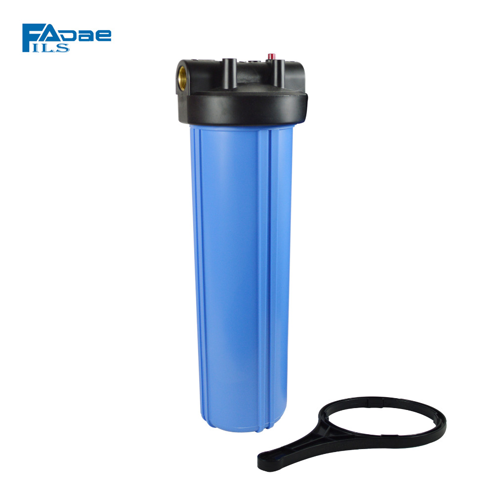 High Quality! Whole House Heavy Duty Big Blue Filter Housing ,4.5in. OD x 20in.  L, 1-Inch Female Pipe Thread Inlet and Outlet industrial vacuum pump intake filter in housing 2 rc inlet