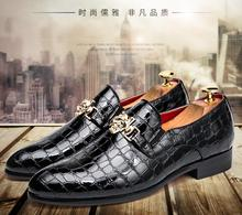 купить Men's spring and autumn casual shoes pointed small shoes British style patent leather style club hair stylist men's shoes по цене 1502.58 рублей