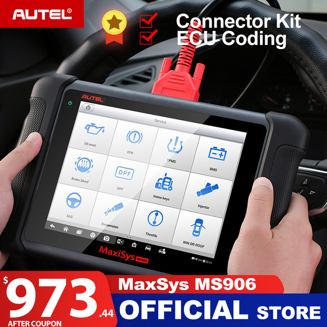 Autel MaxiSys MS906 OBD2 Scanner Automotive Diagnostic tool MS 906 key programming code reader OEM tools key coding