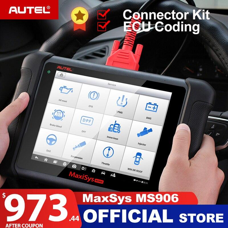 Autel MaxiSys MS906 OBD2 сканер автомобильный диагностический инструмент MS 906 ключ Программирование считыватель кодов OEM инструменты кодирование ключей