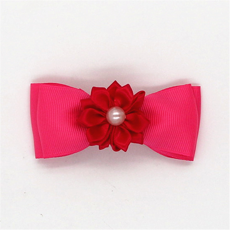 Hair Accessories Wine Red Bowknot Bows Hairpin Boutique Girls Kids Hair Clips Bow Barrette Accessories For Children Headdress Hairclip Ornaments