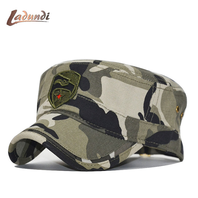d89b9b7b6 US $5.73 45% OFF|High quality Military Hat Men Navy Cap Snapback Eagle Flat  Caps Camouflage Hunting Fishing For Dad Hat Bone Camo Outdoor Caps-in ...