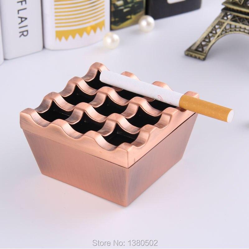 Cendrier détachable en métal   Design rétro pratique 9 trous, en alliage de Zinc, support de Smoker, logo personnalisé