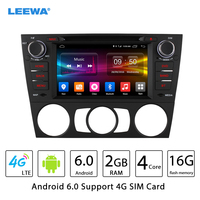 LEEWA 7 Android 6.0 (64bit) 2G/16G/4G LTE Quad Core Car DVD GPS Radio Head Unit For BMW E91 3Series Touring E92 3 Series Coupe