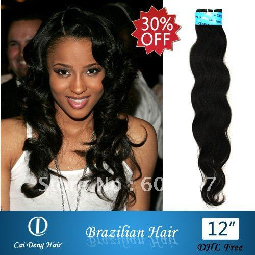 """brazilian hair extension Queen hair  retail  virgin more wave factory outlet price 12"""" DHL Frees 5pcs  wholesale 30%OFF"""