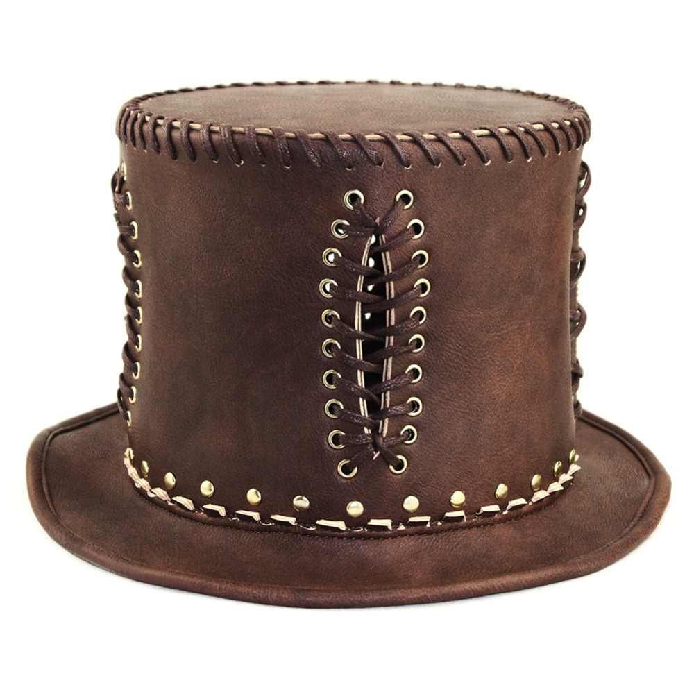 Corzzet Cổ Điển Victoria tại Punk Steampunk Lolita Cosplay Hat Spike Fedoras Hat Halloween Cosplay