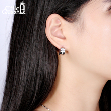 Effie Queen Classic Earrings for Women Allergy Free 316L Stainless Steel Earrings with 4 pcs CZ Diamonds Jewelry Wholesale IE46
