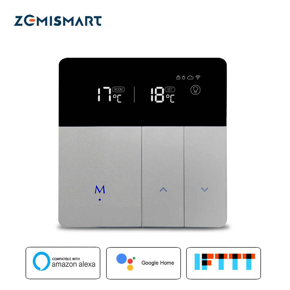 Electric Floor Heating Thermostat Work with Alexa Google Home Smart WIFI  Control external Temperature Controller 16A 110V-240V