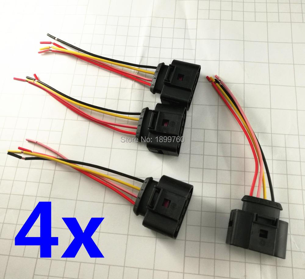 4x Ignition Coil Connector Repair Kit Harness Plug Wiring 2011340 1j0998724 For Audi A4 Rs4