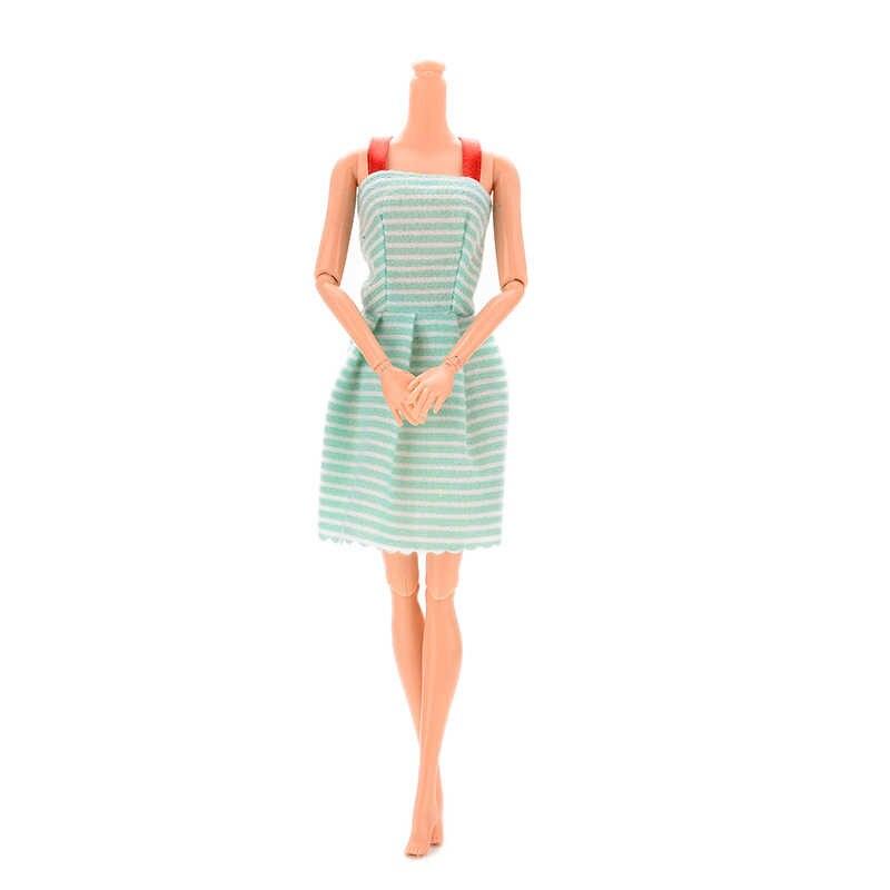 "Girl Doll Princess Clothes For 11"" Doll Dresses Handmade Mini Dress Random Style"