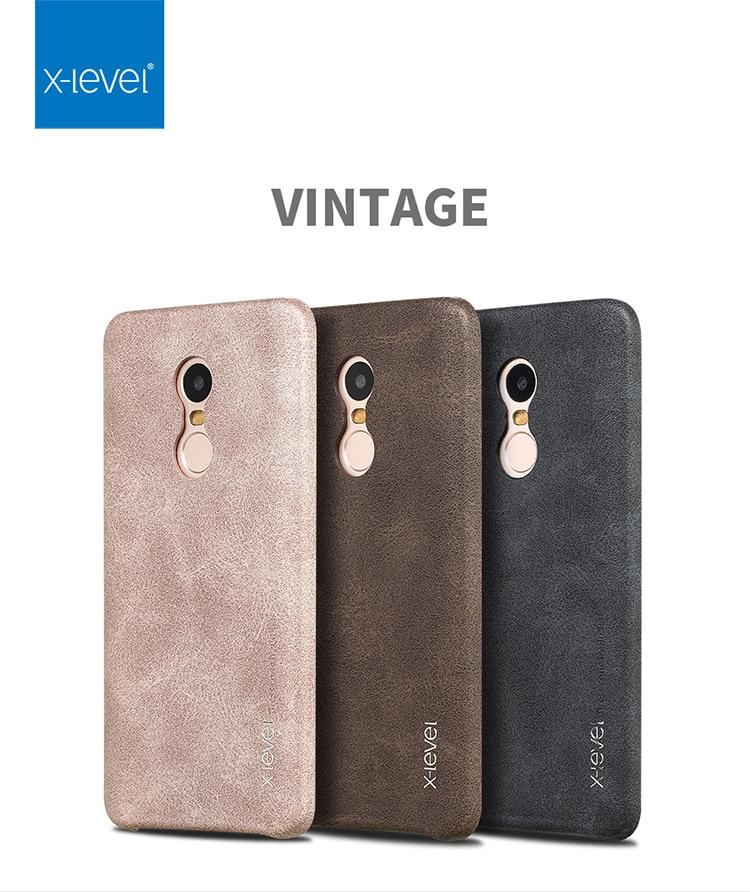 X-Level Vintage Case For Xiaomi Mi5S Plus Retro PU Leather Case For Redmi note 4 3 Capa Ultra thin Back Cover for Xiaomi Note 2