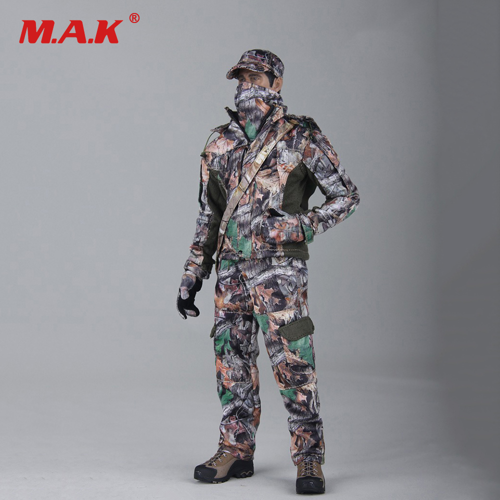 1/6 Scale Realtree CAMO Hunting Clothes Set Hunters Camouflage Suit for 12 inches Male Body Figure 1 6 scale 12 inches male clothes