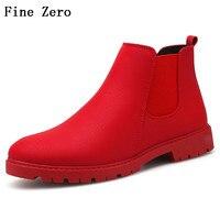 Fine Zero Man Spring Autumn Cotton Pig Leather Vintage Motorcycle Boots Men Shoes Men Snow Martin Boots Men Chelsea Boots