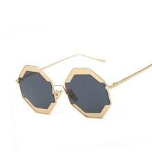 Women Round Oversized Sunglasses Original Fashion Ladies Luxury Vintage Brand Designer Female Retro Points Sun Woman Glasses