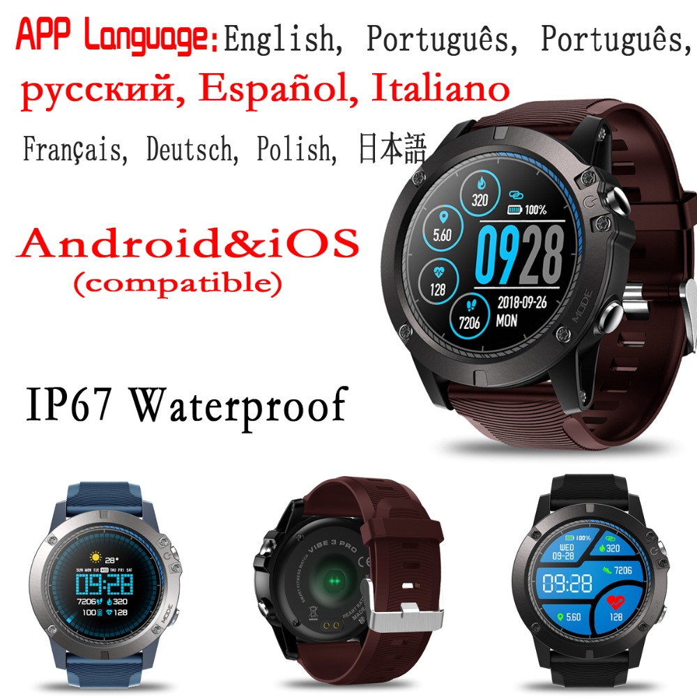 Zeblaze Vibe 3 Pro Color Touch Display Sports Smartwatch Heart Rate