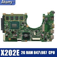 Материнская плата для ноутбука Amazoon X202E для ASUS X202E X201E S200E X201EP test оригинальная материнская плата 2G ram 847/987 cpu