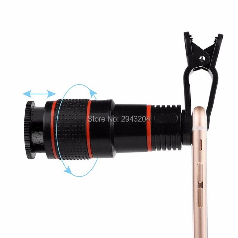 Nouvelle Arrivée Universal 12X Zoom Optique Clip Mobile Phone Telescope Camera Lens Téléobjectif Pour iphone 5 5s 6 6s 6 p 7 Vente Chaude