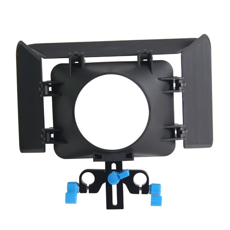 Professional delicate beatiful Plastic DSLR Camera Matte Box compatible with standard 15MM rail Rod system For Camera Camcorder image