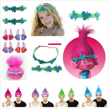 TROLLS Cartoon Wigs Girls Hair Claws Clips Cartoon Kids Action Figures Hairs Clip Movie Trolls Poppy Accessories Gift(China)