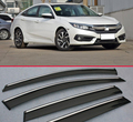 Window Wind Deflector Visor Rain/Sun Guard Vent For Honda Civic 2016 2017