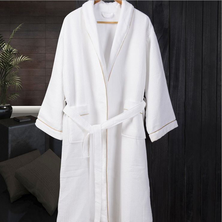Women\'s Knee-Length Cotton Sleep Lounge Robes RBS-D RB35 2