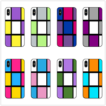 Mondrain inspired abstract phone case black soft cover for Samsung s8 s9 s10plus S6 S7E S5 iPhone 6s 7 8plus 5 X XS XR XSMax