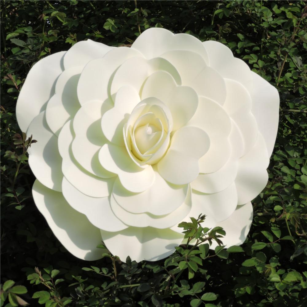 50 40cm foam big artificial rose flower wall hang fake - Big rose flower wallpaper ...