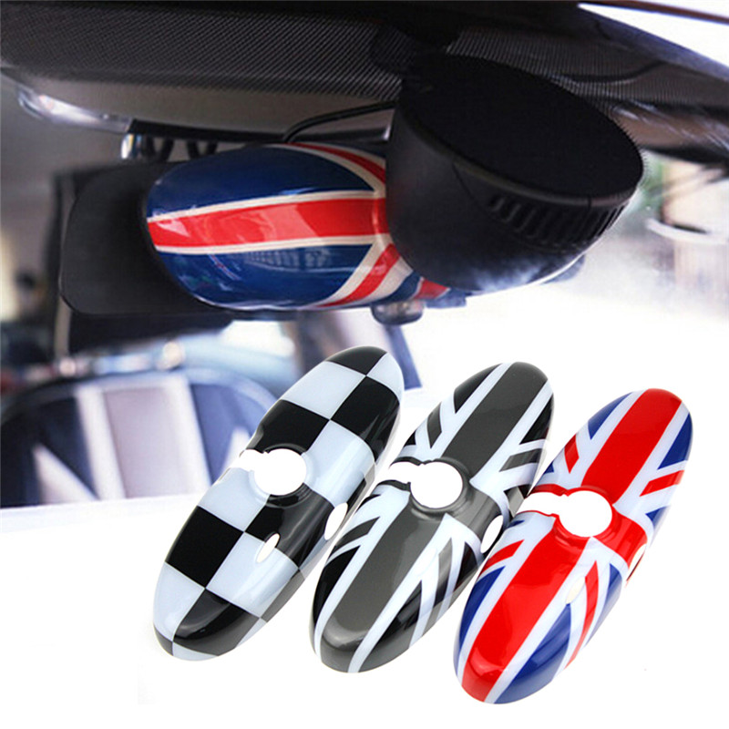 1Pcs Car Interior Rearview Mirror Cover Cap For Mini Cooper R55 R56 R60 R61 5.9*3.5inch1Pcs Car Interior Rearview Mirror Cover Cap For Mini Cooper R55 R56 R60 R61 5.9*3.5inch