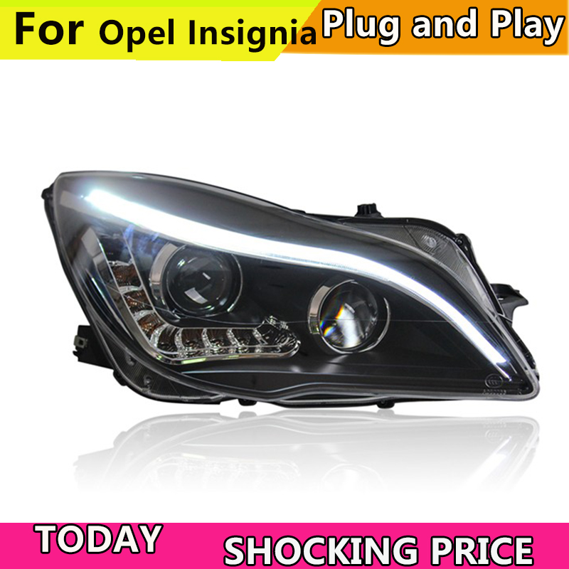 Car Styling For Buick Regal headlights For Opel Insignia head lamp led DRL front light Bi-Xenon Lens xenon HID KIT 2014-2016 car styling for cadillac ats headlights for ats led head lamp led front light bi xenon lens xenon hid