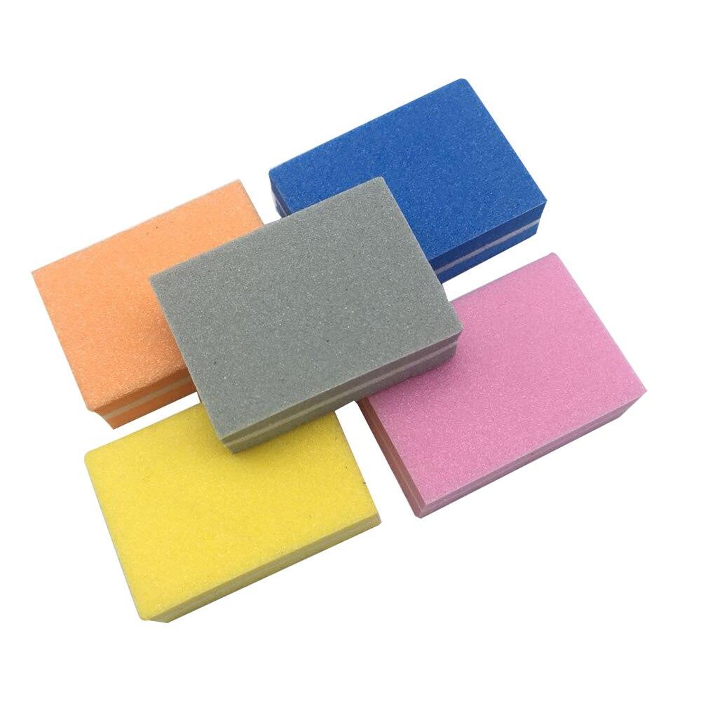 20pcs/lot Nail File 100/180 Buffer lime a ongle Art Tool Washable Buffing Sand Paper Mini Sponge Files Polish Trimmer Emery