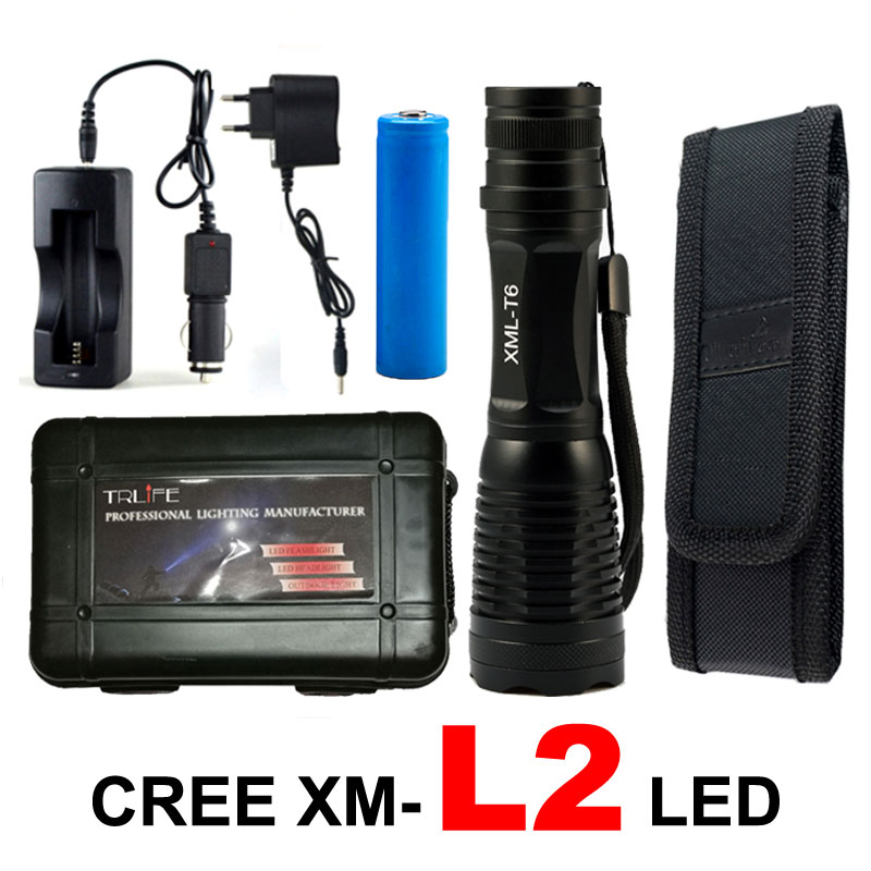 6000Lumen CREE XML T6/L2 LED Flashlight Zoomable LED Flash Light Tactical Torch Outdoor Lighting Lanterna Camping for 18650 X900 led cree xml t6 flashlight 6000lumens torch 5modes tactical flashlight zoomable flash light 18650 battery charger