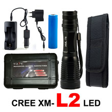 8000Lumen CREE XML T6/L2 LED Flashlight Zoomable LED Flash Light Tactical Torch Outdoor Lighting Lanterna Camping for 18650 X900
