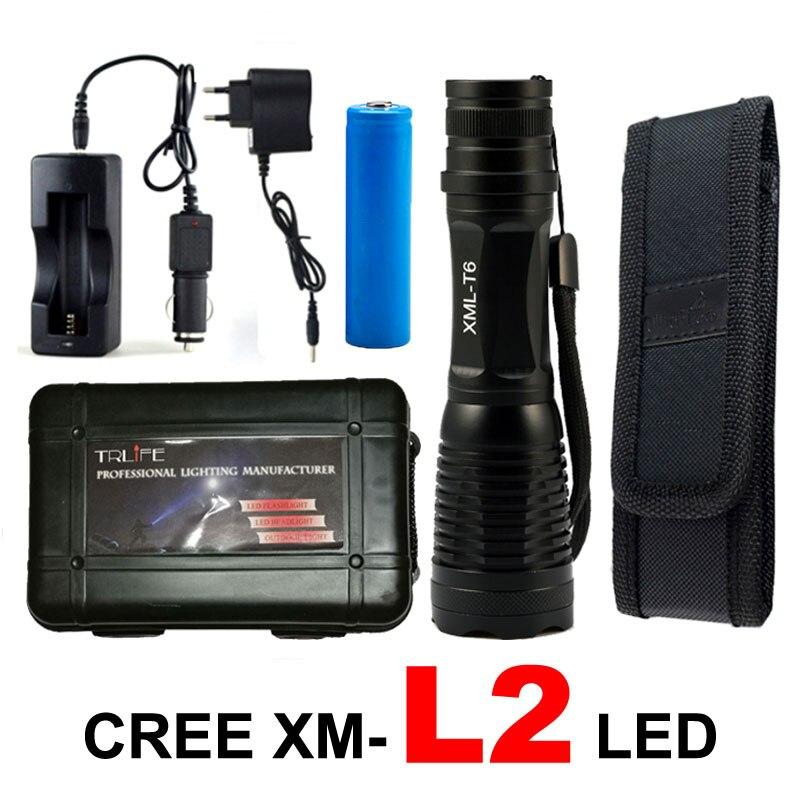 Lanternas e Lanternas 8000 lumen cree xml t6/l2 Fonte de Luz : Lâmpadas Led